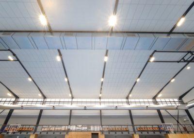 Sportovní hala, Dobříš - detail osvětlení